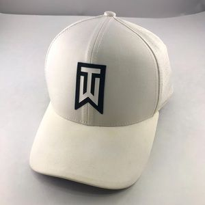 Nike Golf Tiger Woods TW White Hat Dri-Fit Swoosh